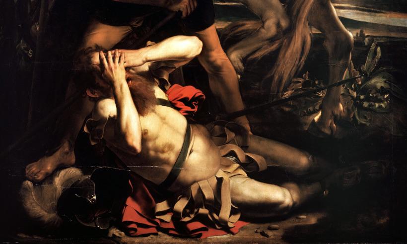 Detail uit de bekering van Saulus, Caravaggio
